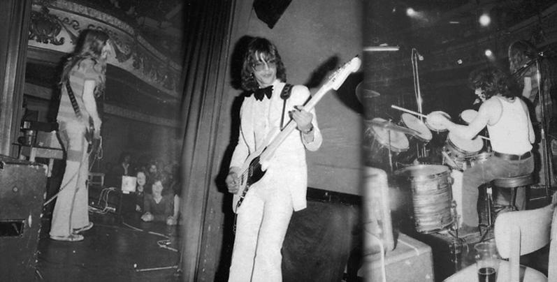 Iron Maiden with Noel on bass